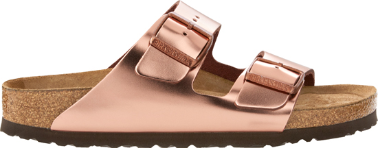BIRKENSTOCK Arizona metallic copper narrow 752723 goud