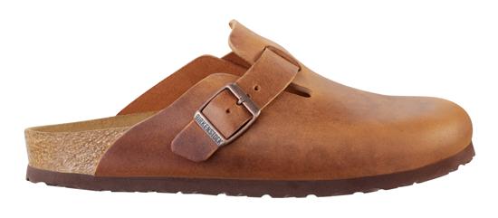 birkenstock boston brown leather narrow 760893 bruin