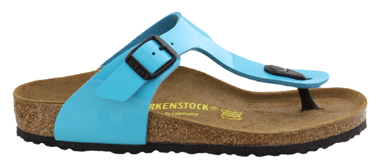 BIRKENSTOCK Gizeh blue patent narrow 846173 blauw