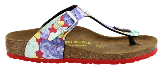 birkenstock gizeh photo print red narrow 846753 multi