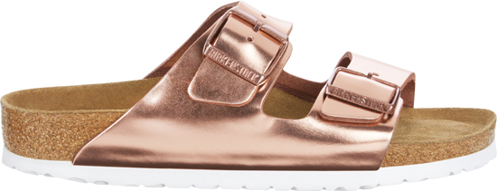 BIRKENSTOCK Arizona metallic copper narrow 952093 goud